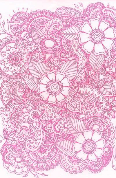 girly doodle wallpaper pink and white girly floral ipod or iphone wallpaper