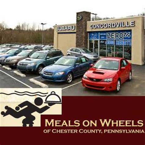 Concordville Subaru by Meals On Wheels Partners With Concordville Subaru The