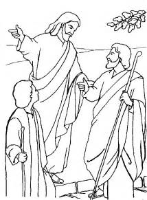 Disciples Of Emmaus  On The Road To sketch template