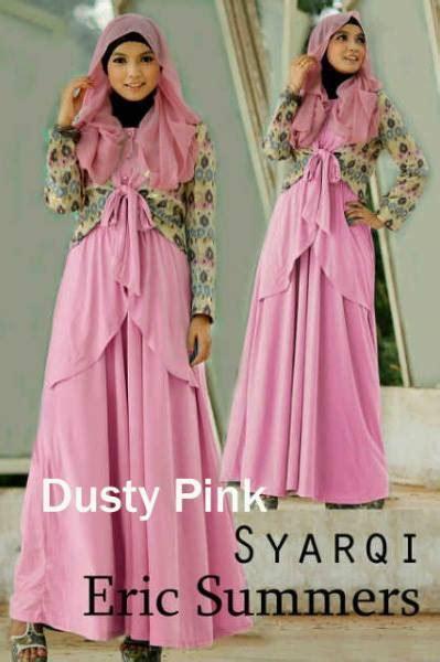 Baju Muslimah Esme E 010311 Pink Summer Dress syarqi by e2 dusty pink baju muslim gamis modern