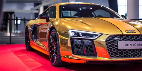 audi r8 gold gold audi r8 v10 photos business insider