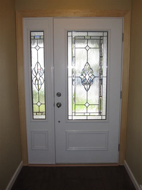 Exterior Doors With Side Panels Home Entrance Door Glass Panel Doors