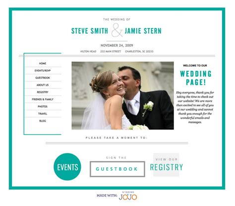 wedding site template wedding websites from wedding jojo green wedding shoes