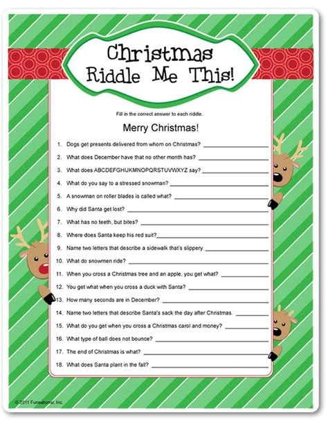 printable christmas table games christmas parties the o jays and christmas riddles on