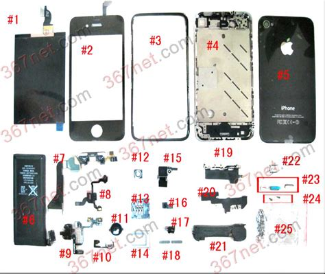 Sparepart Iphone 5 Iphone Housing Mobile Phone Housing Manufacturer