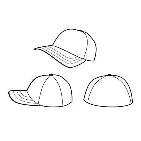 hat design template baseball cap vector clipart