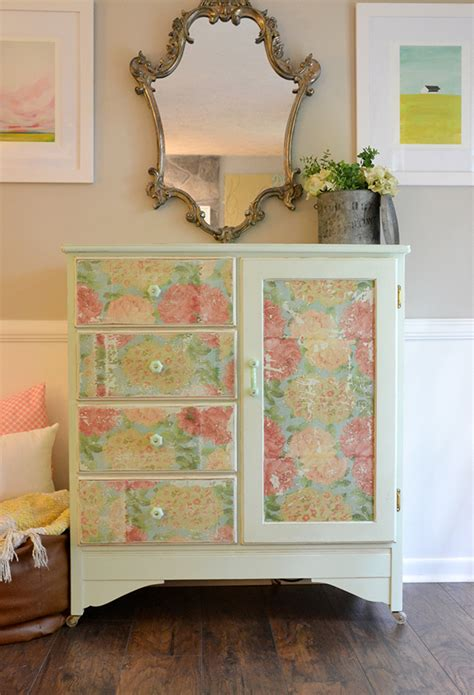 Wrapping Paper Decoupage Furniture - decoupage using napkins on wood furniture hearts sharts