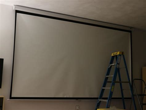 projector screen ceiling learn how to install a media room projector screen how