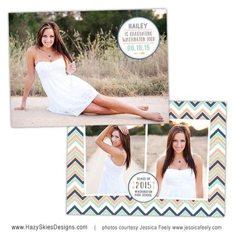 Senior Photo Card Templates by Senior Graduation Card Template Bliss
