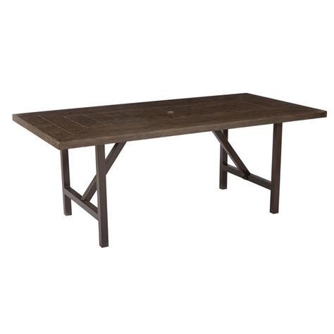 outdoor rectangular dining table vifah bradley 59 in x 32 in white acacia patio dining