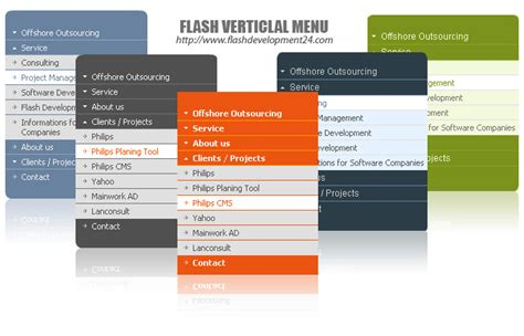website layout vertical menu flash vertical menu for dreaweaver 2 0 1 free download