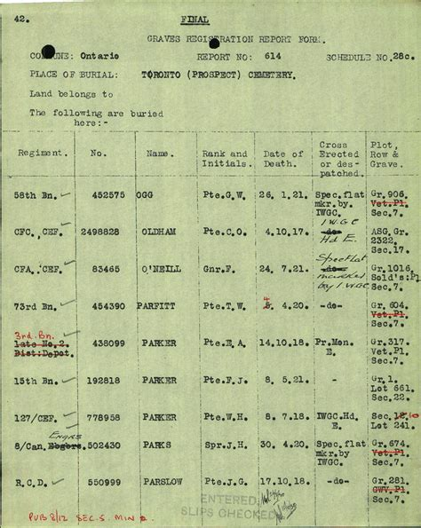casualty section casualty details