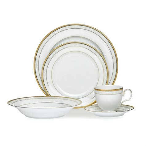 dinner set noritake hshire gold 4 place dinner set best prices