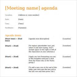 meeting template agenda sle agenda template 41 free documents in