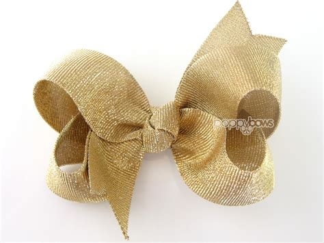 gold bow gold bow gold hair bow gold hair clip baby gold by poppybows
