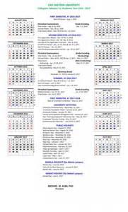 Calendar 2018 International Collegiate Calendar Ay 2017 2018 Far Eastern