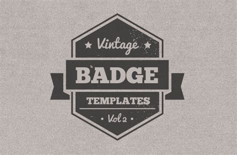 vintage badge template vintage badge templates vectors shapes and textures
