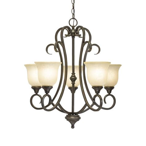 hton bay lavers hill 5 light iron chandelier