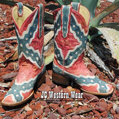 corral rebel flag square toe western boots cowboy boots western boots western wear