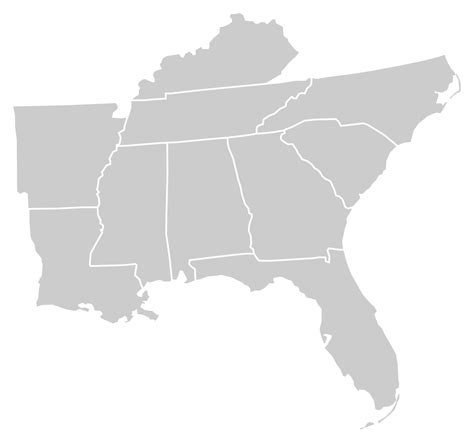 blank map of us southern states file blankmap usa south svg
