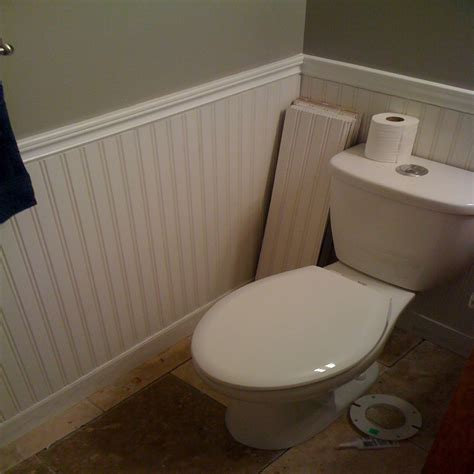 small bathroom wood wainscoting vs subway tile in master