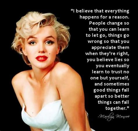 everything happens for a reason and other lies i ve loved books harriet marilyn monroe letting go quotes