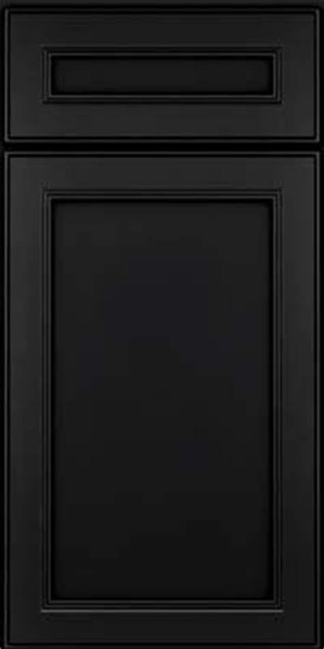 Black Kitchen Cabinet Doors Door Detail Square Recessed Panel Veneer Pdm Maple In Onyx Kraftmaid Cabinetry Joinery
