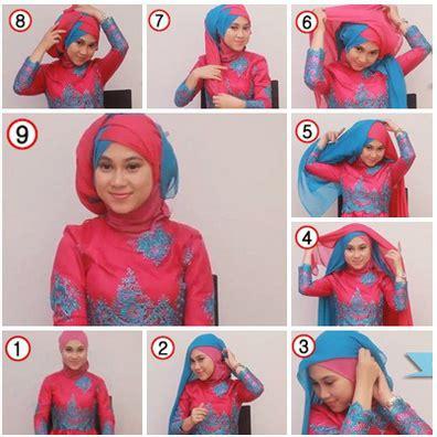 tutorial hijab segi empat dua warna  pesta terbaru