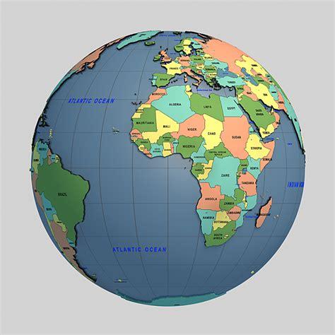 Globe World Map 3d Model globe 3d model cgstudio
