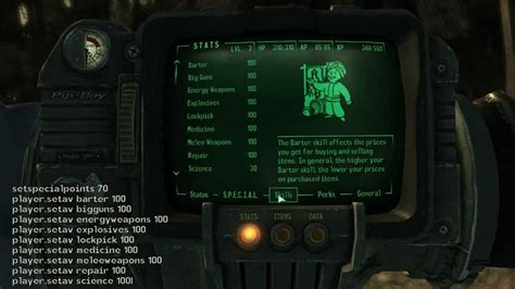 fallout new vegas caps console command fallout 3 cheats and codes for pc codes