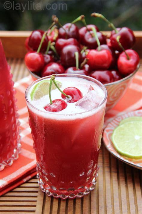 cereza guinda cherry 8426386598 limonada de cerezas refresco de lim 243 n y cereza laylita com