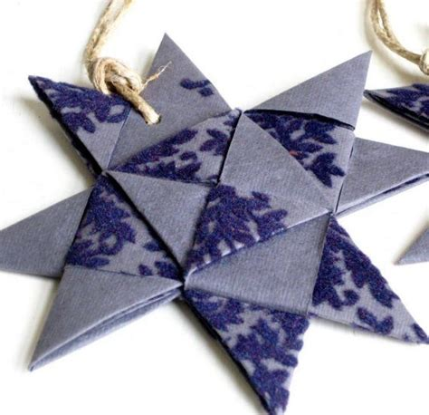 Folded Paper Ornament Pattern - 17 best images about no sew fabric yarn paper crafts