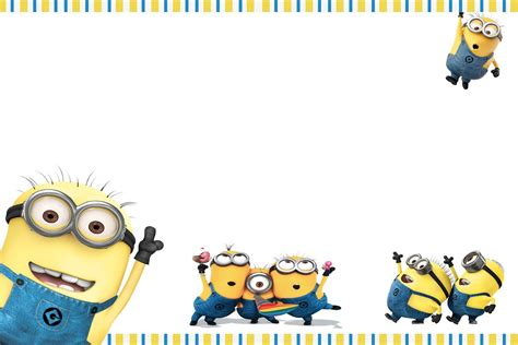 despicable me birthday card template free printable minion birthday invitations ideas