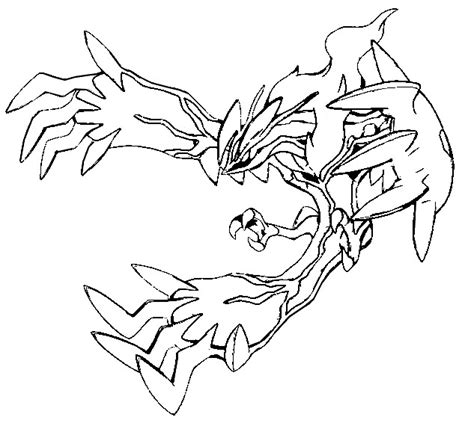 Pokemon Coloring Pages Yveltal | coloring pages pokemon yveltal drawings pokemon