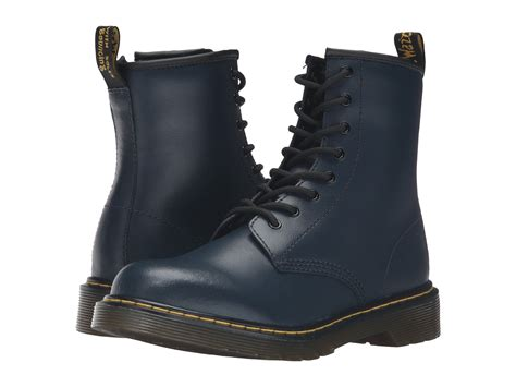 New Fashion Smooth Leather Inside Suede16095 Yl dr martens kid s collection delaney boots big kid at 6pm