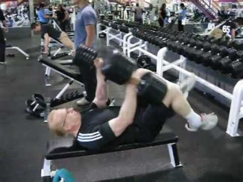 benching 100 pounds 58 year old bench presses with 2 100 pound dumbbells youtube