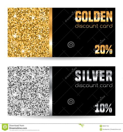 discount card template stock vector image 66021764