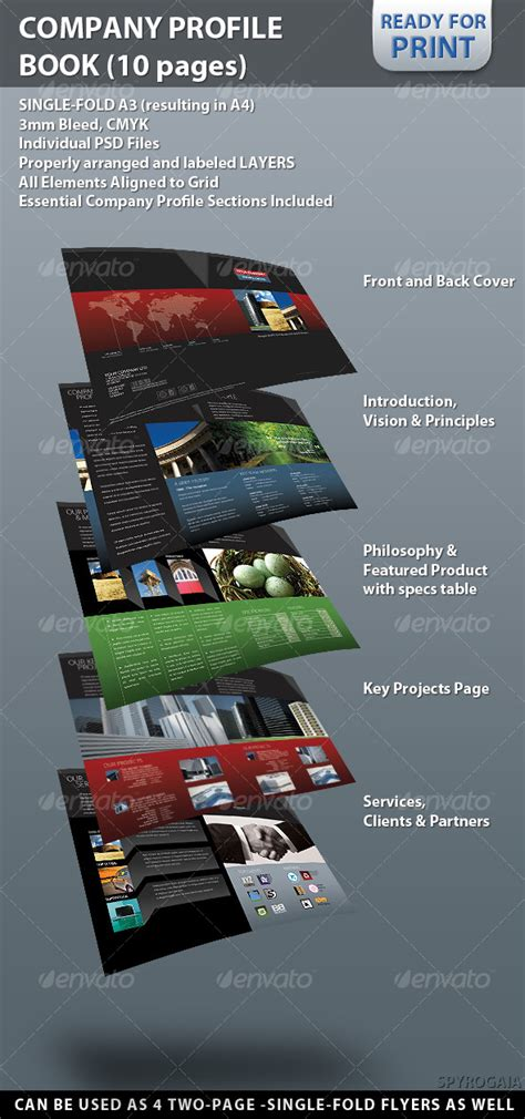 professional company profile brochure 10 pages graphicriver