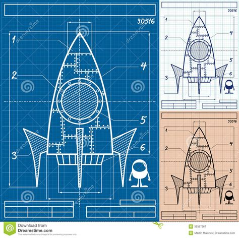 blueprint creator free rocket blueprint cartoon stock vector image of clipart