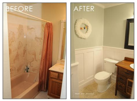 Weekend Bathroom Remodel by Bathroom Weekend Bathroom Remodel Remarkable On With Transformation Mancave Invaded 2 Weekend