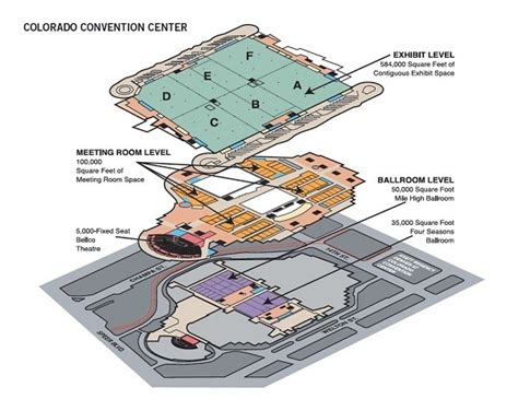 denver convention center floor plan venue directory and map colorado convention center