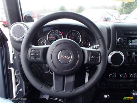 jeep rubicon steering wheel 2013 jeep wrangler rubicon 4x4 steering wheel photos