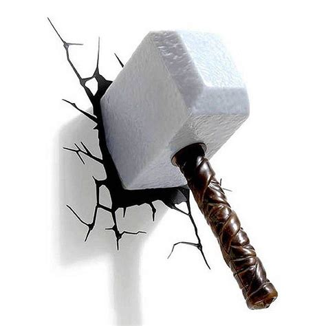3d Wall Thor Hammer Nightlight By Marvel