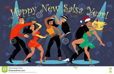 new year dancers happy salsa new year stock vector image of winter