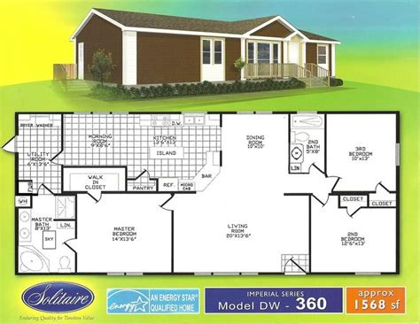 wide floorplans manufactured home floor plans