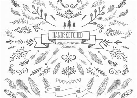 hand draw design elements vector 200 free and premium hand drawn vectors on vectorgraphit