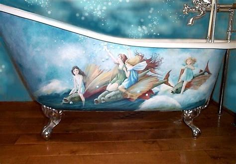 Porcelain Bathtub Paint by Water Fairies Painted Porcelain Tub Fae