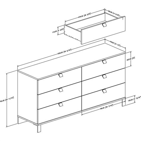 Dresser Dimensions by South Shore Cakao Dresser In Chocolate 3259010