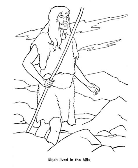 coloring page for elijah and the ravens bible characters coloring pages coloring home