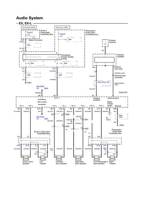 wiring diagram 2004 honda element stereo wiring diagram